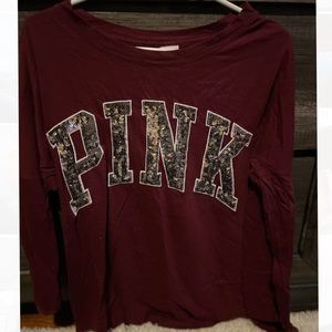 PINK burgundy sweater